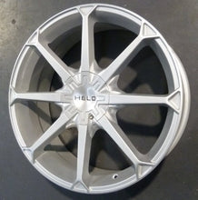 "Load image into Gallery viewer, HELO HE870 20x8 5/120 5/114.3 72.6mm Silver 42p REDUCED TO CLEAR 20"" WHEELS"