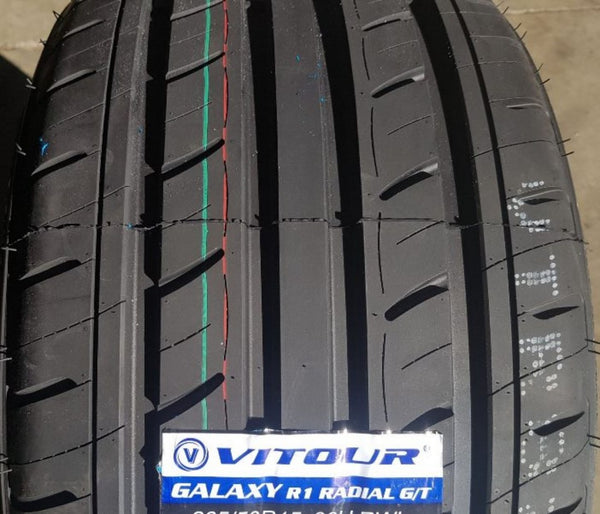 215/60R15 94V Galaxy R1 Radial G/T Tyres x 2 with White Lettering
