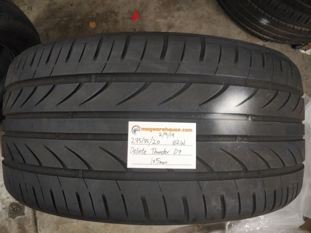 275/35R20 102W Delinte Thunder D7 1x5mm, FREE Fitting with the BUYNOW!!!