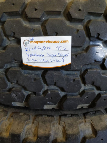 27x8.50R14 95S Yokohama Super Digger 1x7mm 1x5mm 2x4mm Free fitting in Buynow