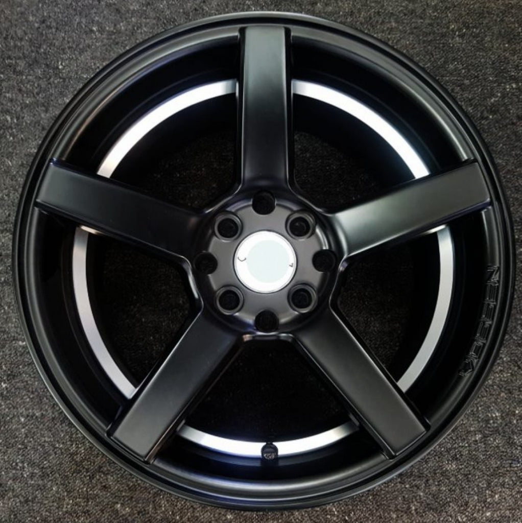 .Com 15x8 4/100 & 4/114.3 20p Full Satin Black with Machined inner Lip mags x 4