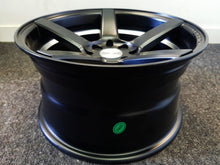 Load image into Gallery viewer, .Com 15x8 4/100 & 4/114.3 20p Full Satin Black with Machined inner Lip mags x 4