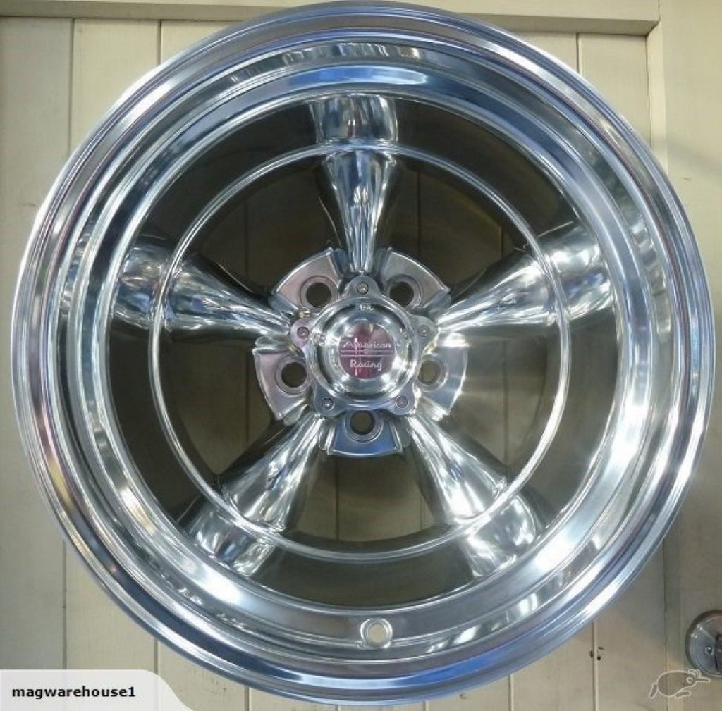 American Racing Torq Thrust II 15x10 -44 offset 5/127 Full Polished - Clearance