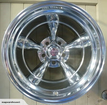 Load image into Gallery viewer, American Racing Torq Thrust II 15x10 -44 offset 5/127 Full Polished - Clearance