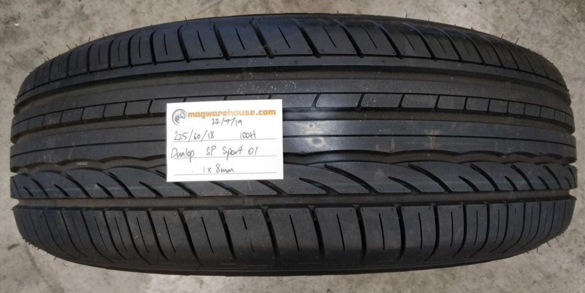 225/60R18 100H Dunlop SP Sport 01 1x8mm, FREE Fitting with the BUYNOW!!!