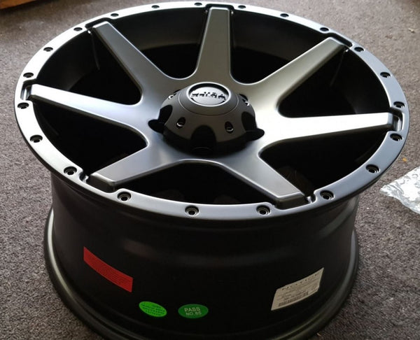 5 Ultra Tempest 17x9 LOW 1p offset 5/127 Satin Black JK Jeep strong 4x4 mags