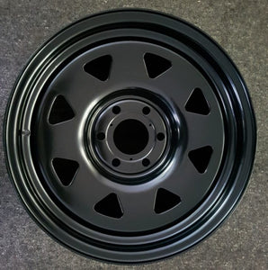 Dynamic Steel 17x8 6/130 30p Full Matt Black x 4 Brand New wheels LDV T60 ute