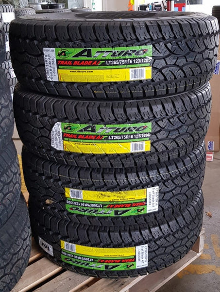 4 new 265/75R16 123/120S ATTURO LT All Terrain NEW RELEASE awesome A/T tyres