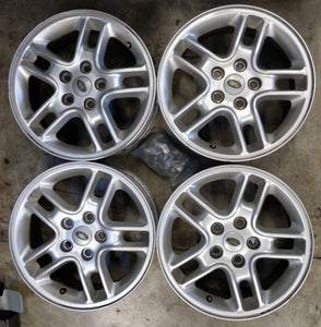 17x7 53p 5/120 Genuine Land Rover Silver Alloys