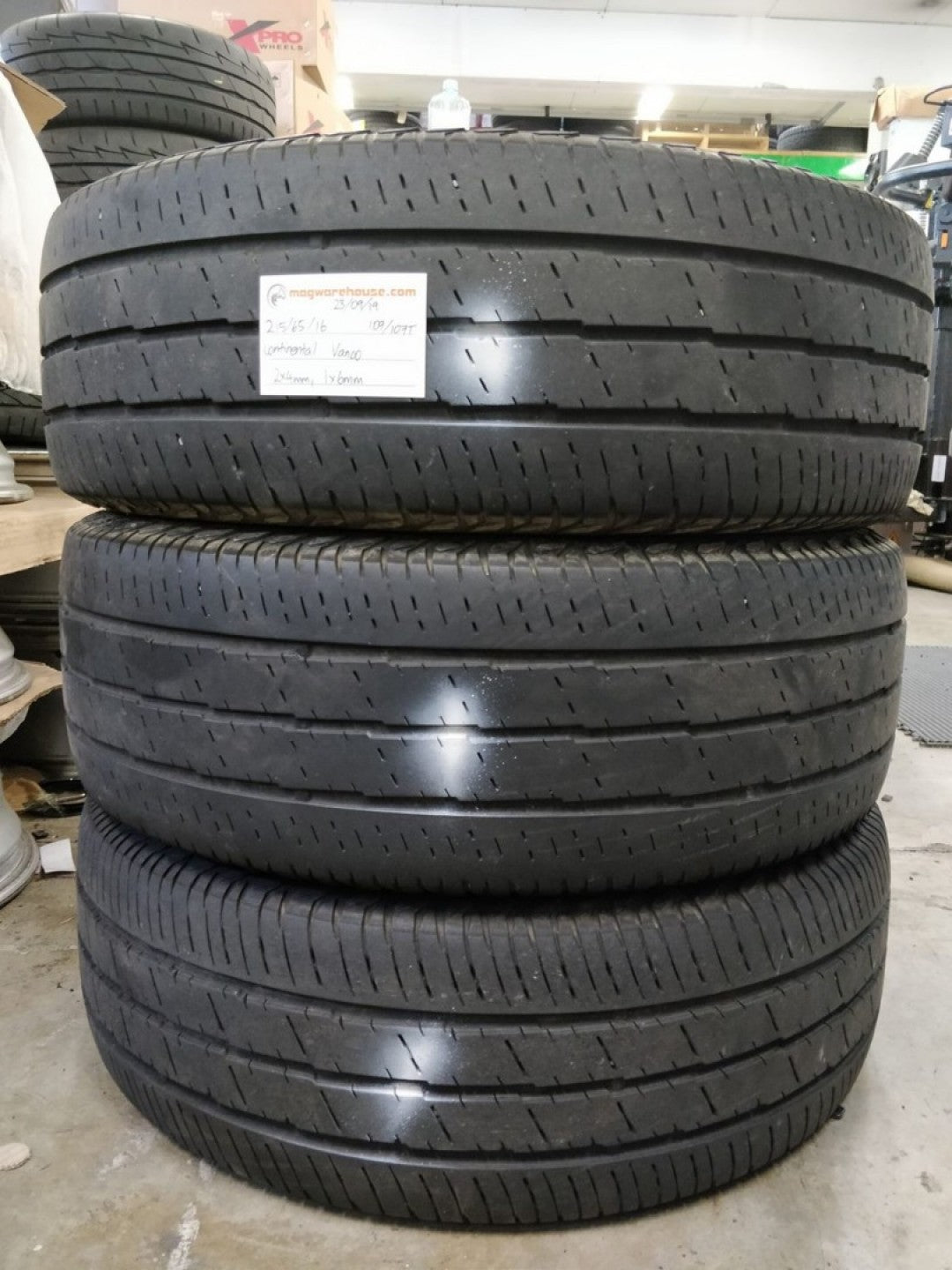 215/65R16 109/107T Continental Vanco 2x4mm, 1x6mm, FREE Fitting with BUYNOW!!!