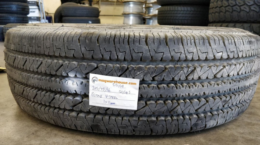 245/75R16 120/116S Bridgestone V-Steel RIB 265 1x11mm, FREE Fitting in BUYNOW!!!