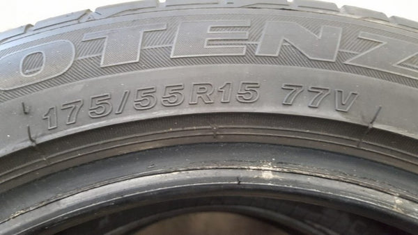 2 x 175/55R15 Bridgestone Potenza RE050A With 3mm of tread remaining