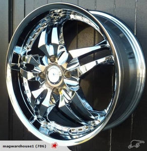 Zyoxx ZX03 18x7.5 4/114.3 42p Chrome New