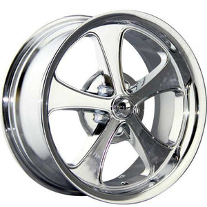 2 only wheels Ridler 645 20x8.5 5/4.5 Chrome 0 offset NEW 2 brand new wheels