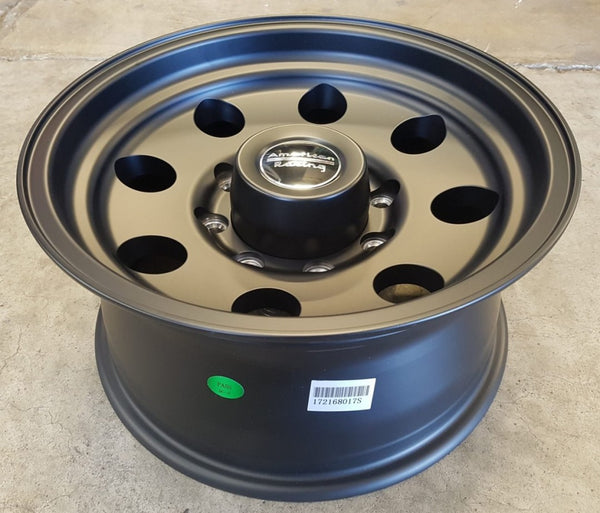 American Racing Baja 16x8 8/165.1 0 offset Black mags x4 suits Hummer F250 C20