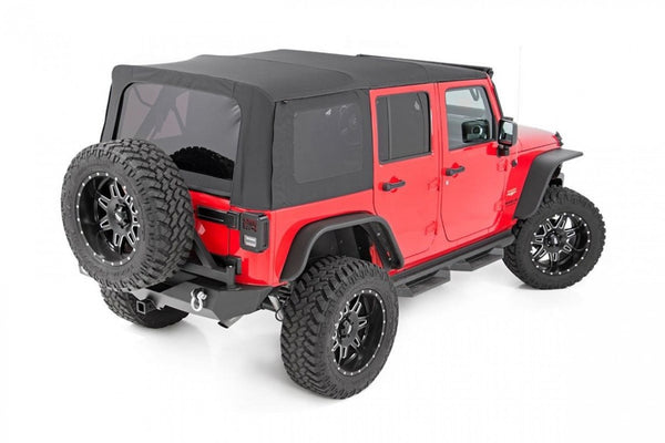 Jeep JK 2010-2018 4DR Black Soft Top New 85570.35 Rough Country