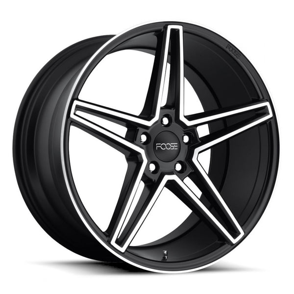 Foose Voss 20x9 18p 20x10 20p 5/115 Black Polish Face for 300C Chrysler new mags
