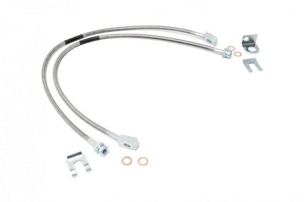 Rough Country JEEP XJ TJ EXTENDED FRONT & REAR STAINLESS STEEL BRAKE LINES 4-6""