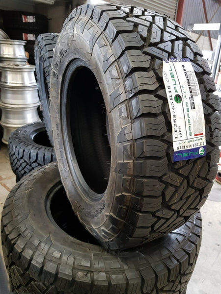 "4x 285/65R18 125/122S Fuel Gripper A/T All great on and off road 18"" tyres 32.6"""