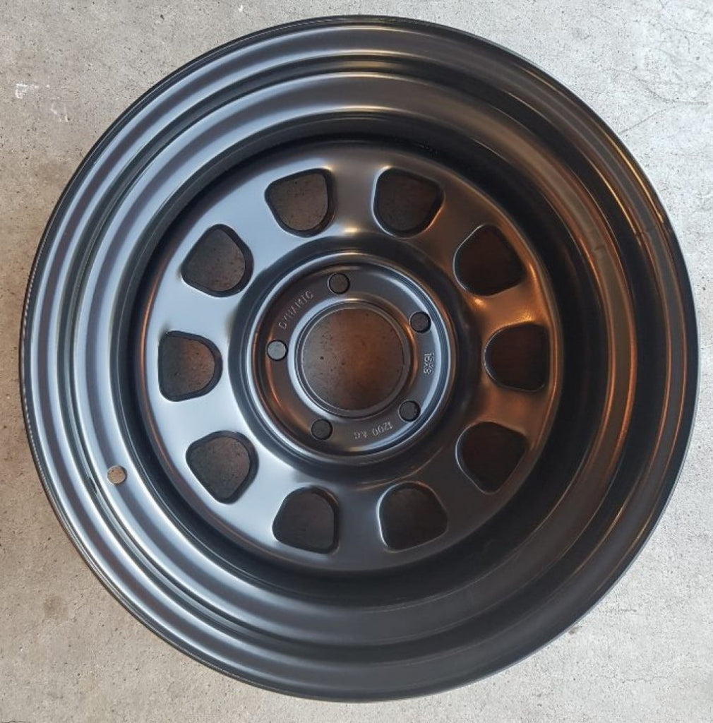 Dynamic 16x8 5/127 Full Black -25 Low old offset great C10 Chev Truck & JK Jeep