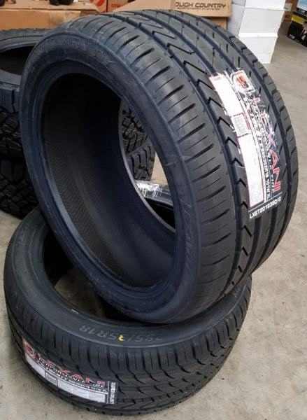 2x NEW 285/35R18 Lexani LX Twenty 101W ASYMMETRIC FREE Fitting and balancing