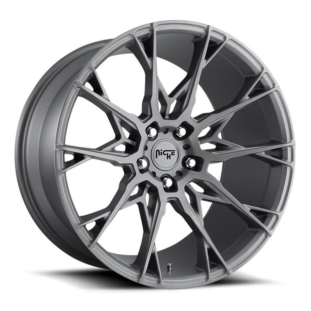 Niche Staccato 19x8.5 5/114.3 35p Full Anthracite mags set of x 4 CLEARANCE