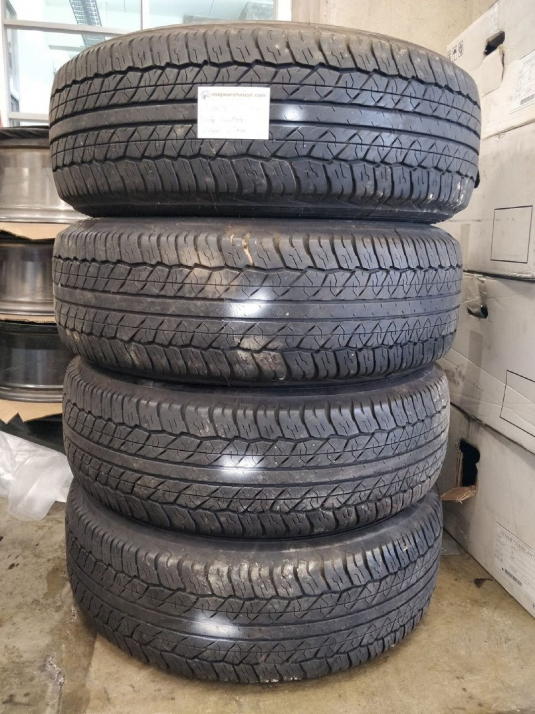 4x Dunlop Grandtrek 255/70R16 111H Tyres 2x5mm 2x6mm free fitting in buynow