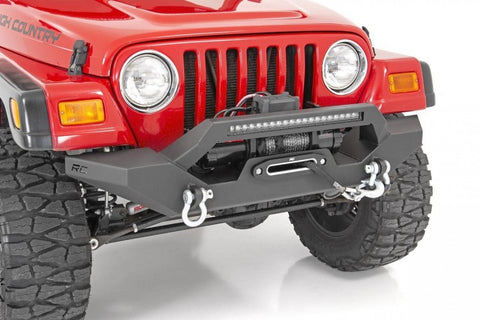 JEEP 87-06 TJ & YJ Front steel rock crawler front bumper Rough Country USA 10595
