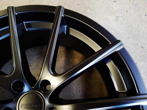 Helios 20x8.5 5/112 35p Full Matt Black mags Brand New set of x 4 suit Audi / VW
