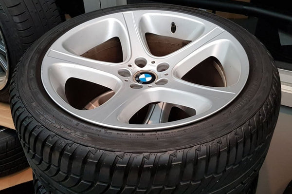 Genuine BMW X5 20x10.5 30p and 20x9.5 45p 5/120 silver secondhand mags & tyres