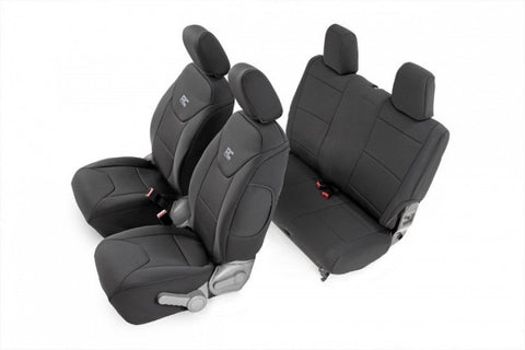Jeep Neoprene Seat Cover Set | Black (07-10 Wrangler JK | 2 Door) 91005