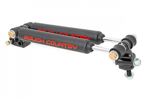 "Rough Country JEEP XJ 84-01 2.5""-6.5"" Dual Stacked STEERING STABILIZER 87308"