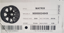Load image into Gallery viewer, DC Matrix 20x9 5/150 12p Black mags Toyota Landcrusier 5x150