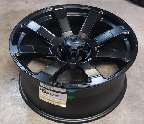 DC Matrix 20x9 5/139.7 -12 Full Satin Black Dodge Ram Ford F150 Bronco Suzuki