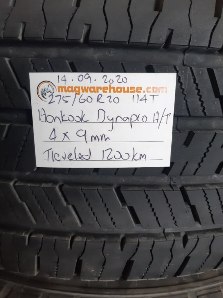 275/60R20 114T Hankook Dynapro H/T 4x9mm Only travelled 1200Km