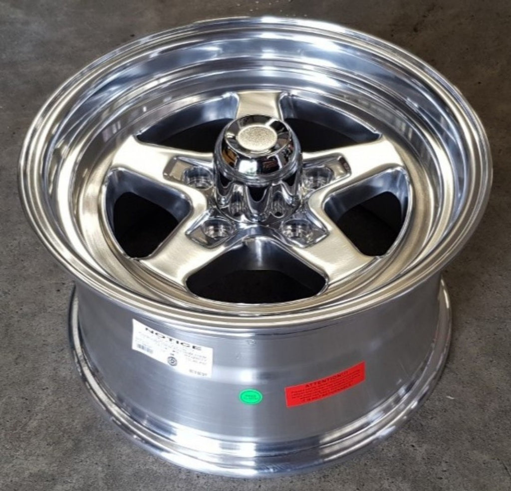 4 x Ultra Comet 15x8 5/4.75 27p Offset Polished Holden GM dragster wheels