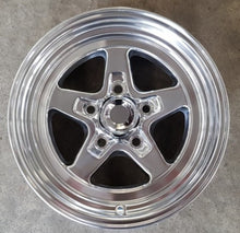 Load image into Gallery viewer, 4 x Ultra Comet 15x8 5/4.75 27p Offset Polished Holden GM dragster wheels