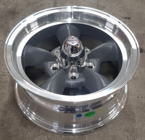 American Racing Torq Thrust-D 14x6 5/114.3 -2 Grey with Machined Lip
