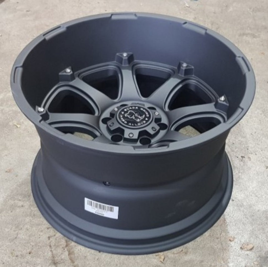 Black Rhino Glamis 20x12 6/139.7 -44 Matt Black Deep Dish