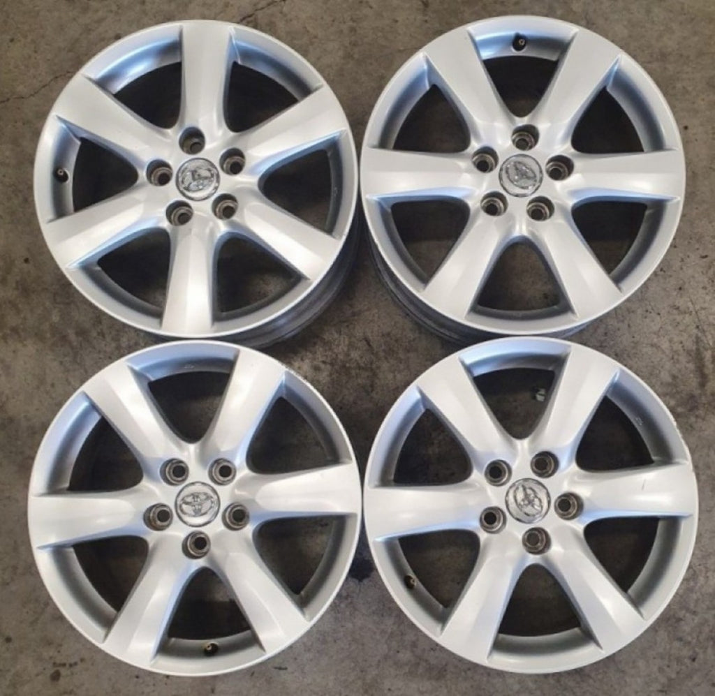 "4 used 17"" mags 17x7 5/114.3 45p GENUINE TOYOTA RIMS fit most toyotas Corolla"
