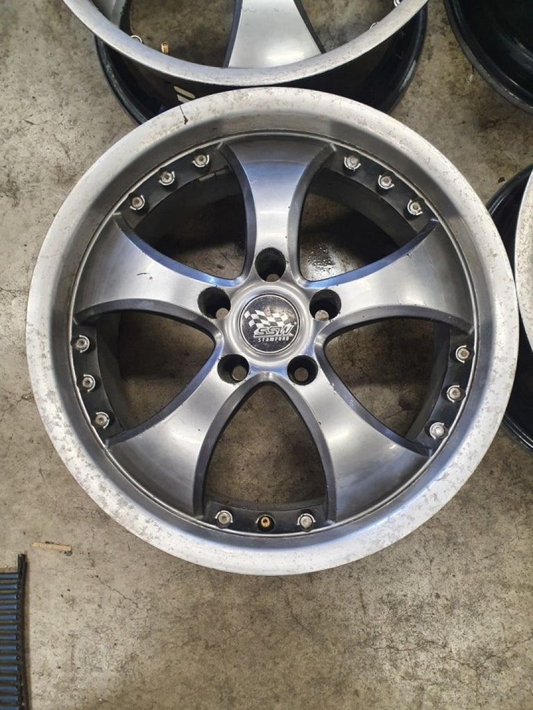 17x7.5 5/114.3 35p SSW STANDFORD RIMS BAD CLEAR