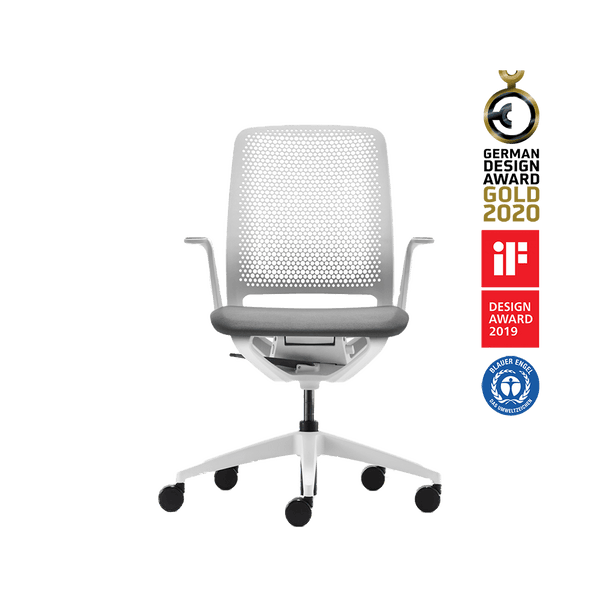 Sedus - Se:Motion office chair white - Se:Motion chaise de bureau blanc - Se:Motion bureaustoel wit - ergonomie bureaustoel - chaise de bureau ergonomique
