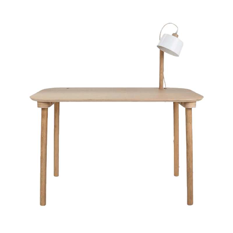 Dizy Design - Desk & Lamp by Camille white - Bureau & Lampe by Camille blanc - Bureau & Lampen by Camille wit