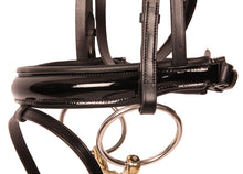 Load image into Gallery viewer, Kingsley Snaffle Bridle Black Patent