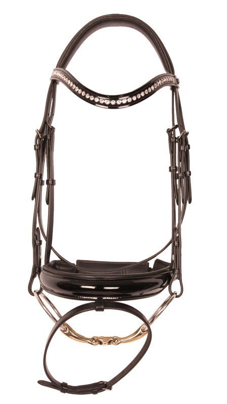 Kingsley Snaffle Bridle Black Patent