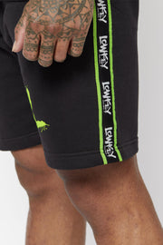Lowkey OG Tape Shorts – Black/Neon - Lowkey Down Under Underground Streetwear Clothing Lifestyle Melbourne