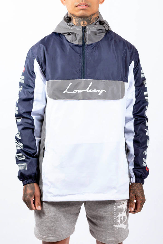 Lowkey City Side Jacket - 3M Reflective/Navy/White - Lowkey Down Under Underground Streetwear Clothing Lifestyle Melbourne
