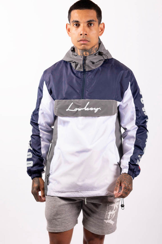Lowkey City Side Jacket - 3M Reflective/Navy/White - Lowkey Down Under