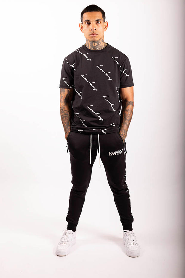 Lowkey Signature All Over Tee - Black - Lowkey Down Under Underground Streetwear Clothing Lifestyle Melbourne