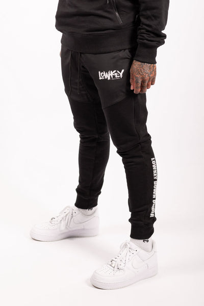 Lowkey OG Discrete Track Pants - Black - Lowkey Down Under Underground Streetwear Clothing Lifestyle Melbourne